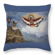Vision Of The Eagle Spirit Throw Pillow