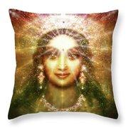 Vision Of The Goddess - Light Throw Pillow