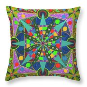 Vision - The Dna Of Plants Throw Pillow