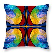 Visions Of Bliss And Abstract Artwork By Omaste Witkowski Throw Pillow