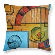 Visions Of Red Wheel Throw Pillow