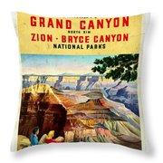 Visit Grand Canyon - Vintgelized Throw Pillow