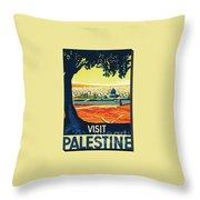 Visit Palestine Throw Pillow