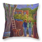 Visit To The Pottery Shop Throw Pillow