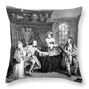Visit To The Quack Doctor, 1745 Throw Pillow