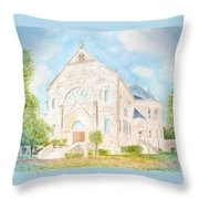 Visitation Monastery Mobile Alabama Throw Pillow