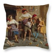 Visiting Grandfather Throw Pillow