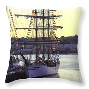 Visiting New London Throw Pillow