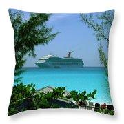 Visiting Paradise Throw Pillow