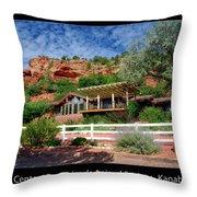 Visitor Center Best Friends Animal Sanctuary Angel Canyon Knob Utah 02 Text Black Throw Pillow
