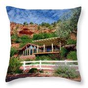 Visitor Center Best Friends Animal Sanctuary Angel Canyon Knob Utah 02 Throw Pillow