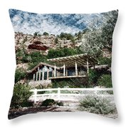 Visitor Center Best Friends Animal Sanctuary Angel Canyon Knob Utah Pa 01 Throw Pillow