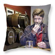 Visitor Samples Single Malt Whisky Throw Pillow