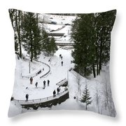 Visitor Viewpoint From The Bridge Throw Pillow