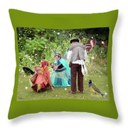 Visitors At A Fairy Blessing Throw Pillow
