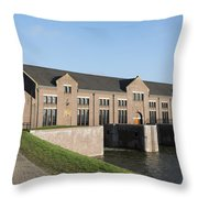 Visitors Centre Of The Woudagemaal Throw Pillow