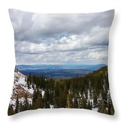 Vista With Snow And Red Rock Throw Pillow