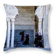 Vistors At The Mausoleum  Throw Pillow