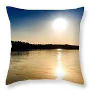 Vistula River Sunset 2 Throw Pillow by Tomasz Dziubinski