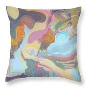 Visual Jazz #22 Throw Pillow