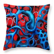 Vital Network 2 Throw Pillow