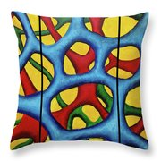 Vital Network Triptych Throw Pillow