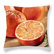 Vitamin C Throw Pillow by Irina Sztukowski