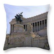 Vittorio Emanuele II Monument Throw Pillow