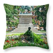 Vittorio Emanuele II Statue Throw Pillow