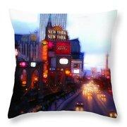 Viva Las Vegas Painting Throw Pillow