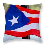 Viva Puerto Rico Throw Pillow