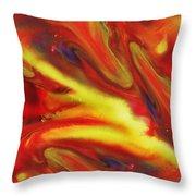 Vivid Abstract Vibrant Sensation IIi Throw Pillow