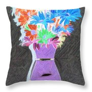 Vivid Arrangement Throw Pillow