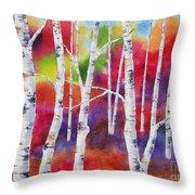 Vivid Autumn Throw Pillow