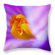 Vivid Crocus Detail Throw Pillow