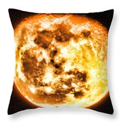 Vivid Full Moon Throw Pillow