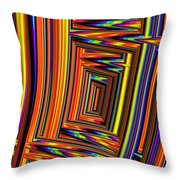 Vivid Geometric Lines Throw Pillow