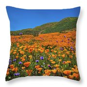 Vivid Memories Of The Walker Canyon Superbloom Throw Pillow