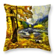 Vivid Pipeline Trail Throw Pillow