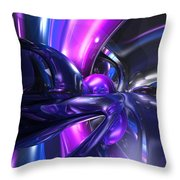Vivid Waves Abstract Throw Pillow