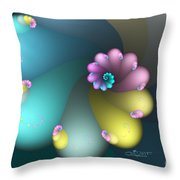 Vivid Whisper Throw Pillow