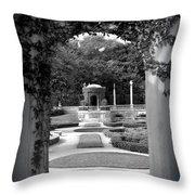 Vizcaya Garden Throw Pillow