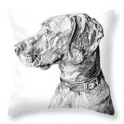 Vizlsa Dog Throw Pillow