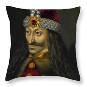 Vlad The Impaler Portrait  Throw Pillow