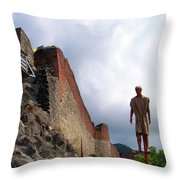 Dracula Aka Vlad The Impaler Real Castle Throw Pillow