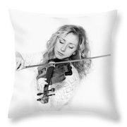 Vlada Bw Throw Pillow