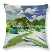 Vlora River, Albania - Lumi I Vlores Throw Pillow