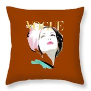 Vogue 3 Throw Pillow