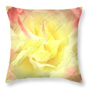 Voice Of The Heart A Rose Portrait Throw Pillow