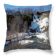 Voile De La Mariee Fall Throw Pillow